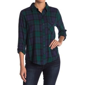 Abound Plaid Button Down Shirt Small